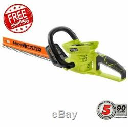 RYOBI Cordless Hedge Trimmer 24 in. 40-Volt Lithium-Ion Yard Work TOOL ONLY NEW