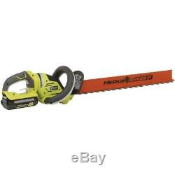 RYOBI Hedge Trimmer Cordless Tool Lithium Ion 24 Inch 40 Volt 2 Battery Charger