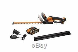 WORX WG261E. 1 18V (20V MAX) Cordless 46cm Hedge Trimmer with 2 Batteries