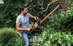 WORX WG284E 40V Dual Battery Cordless 60cm Hedge Trimmer Garden DIY Cutter Bush