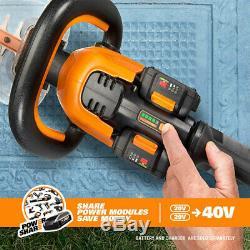 WORX WG284.9 20V X2 40V 24 Lithium-Ion Cordless Hedge Trimmer Bare Tool